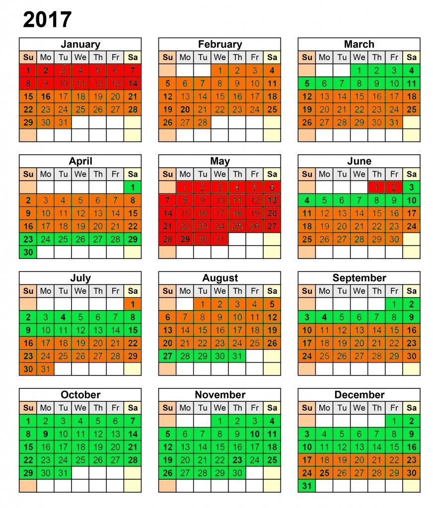 PADI Divemaster schedule 2017