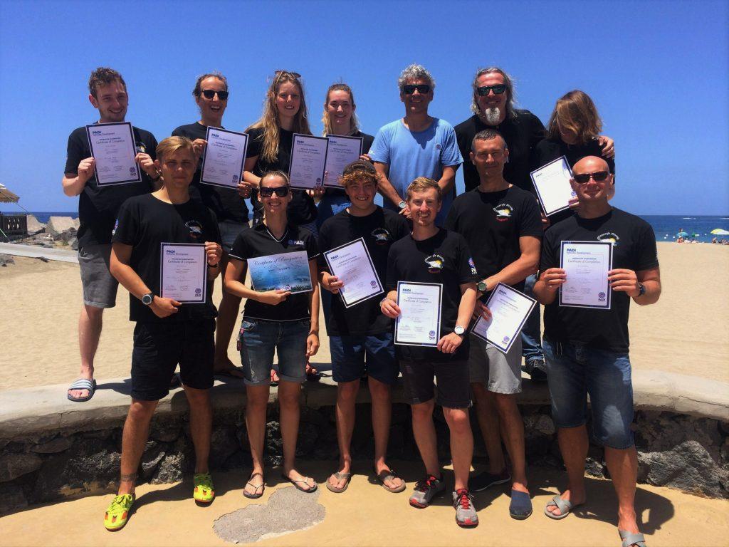 PADI Dive Master Instructors Tenerife
