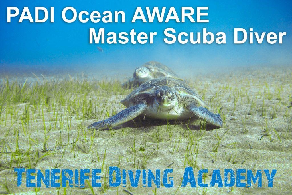 PADI Ocean Aware Master Scuba Diver