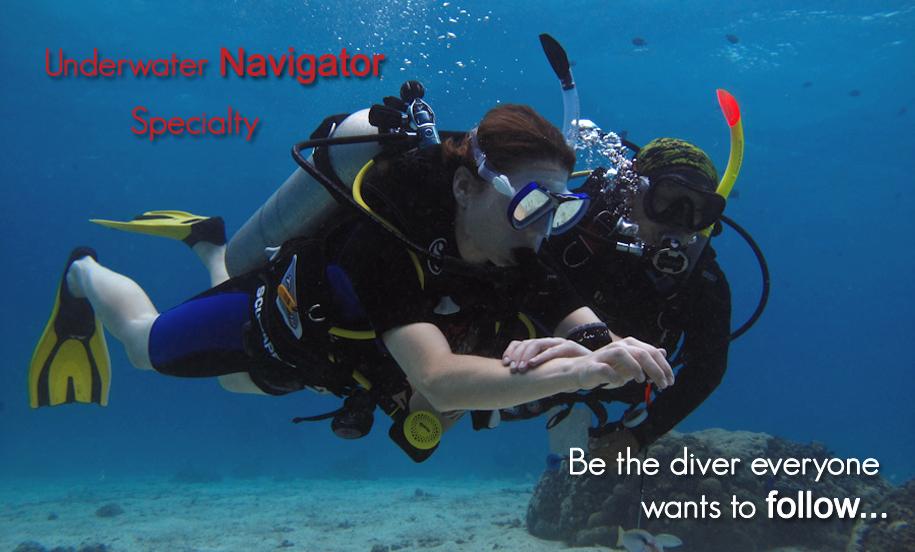 PADI Underwater Navigator Specilaity
